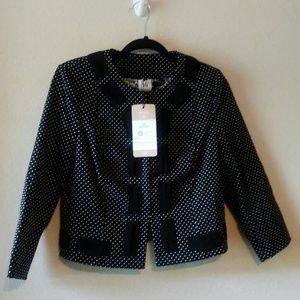 CABi Dot Jacket/Blazer Size:4 NWT
